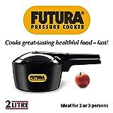 Hawkins Futura Hard Anodized Aluminum Pressure Cooker, 2 litres