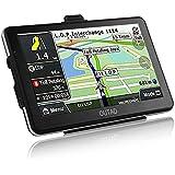 OUTAD GPS Navigation Chargeable de Voiture 7'' Tactile 48 Cartographie Européen 2D/3D Pré-installée Son HI-FI Stéréo Carte SD 32Go Mode d'emploi en Français