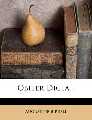 Obiter Dicta...