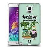 Head Case Designs Garten Huhn Froehliche Garten Arbeit Soft Gel Hülle für Samsung Galaxy Note 4