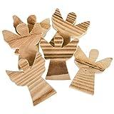 Weihnachtliche Tisch-Deko Holz-Engel (6 Stück)