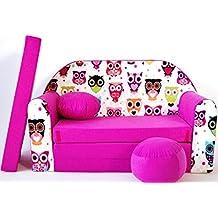 Kindersofa Bettfunktion 3in1 Sofa Kindersessel Ausziehbett Spielsofa mit Motiv