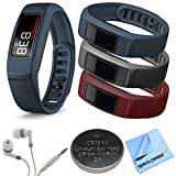 Garmin Vivofit 2 Bluetooth Fitness Band Navy 010-01503-02 Burgundy Slate Navy Bundle