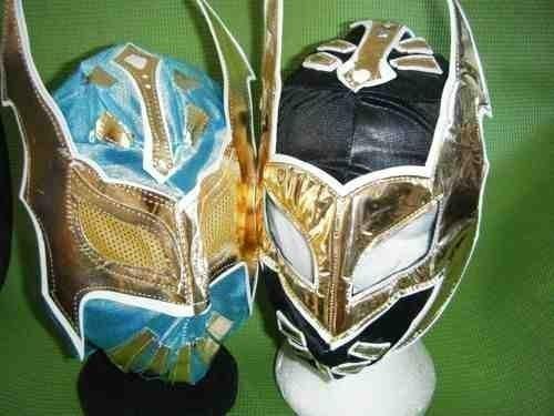 SOPHZZZZ TOY SHOP Sin Cara blau und schwarz Hunico 2 Maske Satz Wrestling Kostüm verkleiden Outfit BRAND NEU für Kinder Kinder Cosplay ()