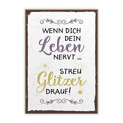 Spruchschilder lustig Holz Wandschild Sprüche Türschild Oma Opa Brett Schild neu