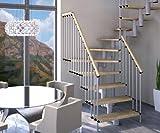 Treppen in Bausätzen Mister Step Universal MAXI U 94 (94-L, Natur-Weiß)