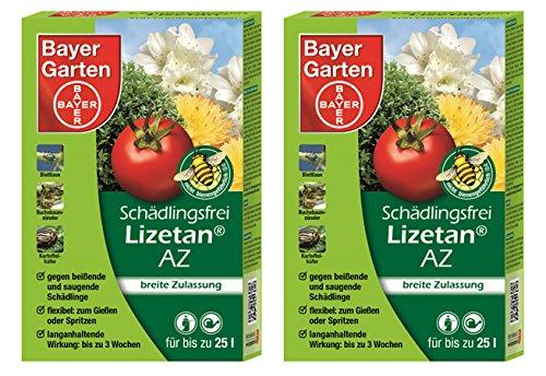 Oleanderhof® Sparset: 2 x SBM Protect Garden Lizetan® AZ Schädlingsfrei, 75 ml - der Calypso Nachfolger + gratis Oleanderhof Flyer