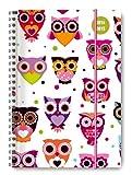 Collegetimer Owls 2014/2015 - Schülerkalender A5 - Weekly - Ringbindung - 224 Seiten