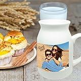 Milchkanne mit Foto bedrucken, Milch Krug mit eigenem Motiv gestalten, Keramik Kanne personalisieren …