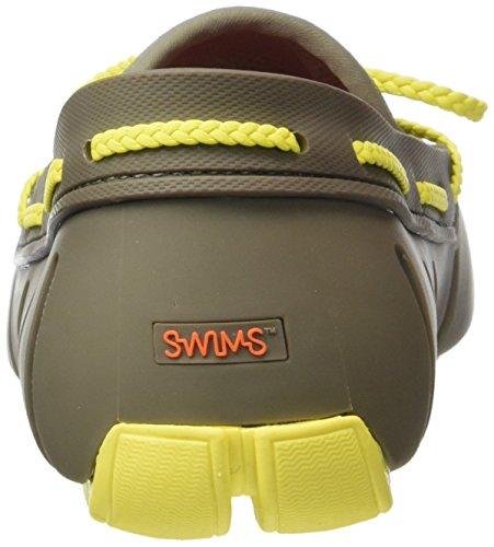 SwimsLace - Mocassini Uomo Verde (Grün (Khaki/Yellow 310))