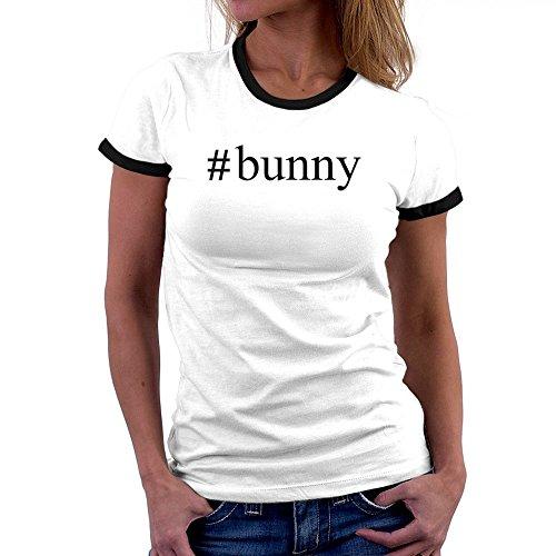 Teeburon Bunny Hashtag Ringer Damen T-Shirt (Ringer Bunny)