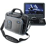 Protective Storage Carry Case For Sony DVP-FX970, DVP-FX875, DVP-FX820, DVP-FX730 & DVP-FX720 Portable DVD Players in Black and Blue - by DURAGADGET