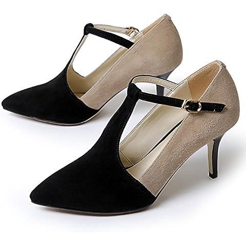 Autunno punta con tacco alto/ colori assortitiT Scarpe/Hollow scarpe Autunno/Scarpe