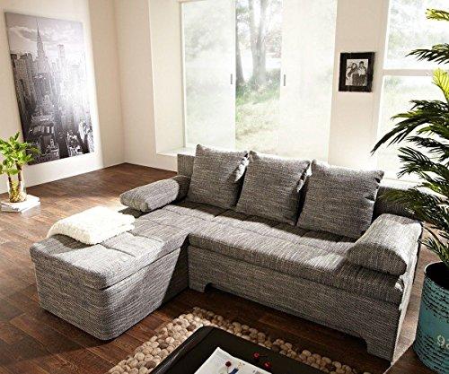 Couch Juline Grau 200x155 mit Schlaffunktion Ottomane variabel Ecksofa - 2