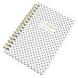 """It's Written In The Stars"" A5 Spiral Paper Notebook 128 Page Lined Journal Memo Book Gold"