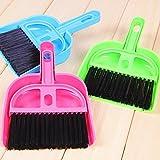 #10: Fusine™ ( Pack of 3 ) Multipurpose Plastic Mini Dustpan / Supdi and Brush Broom Cleaning Set For Kitchen Laptop Table Desk Sweeper