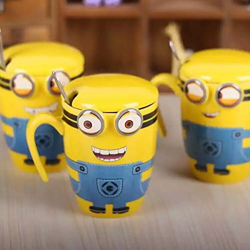 SK-tm minion embossed eye ceramic coffee mug gift for brother/rakhi gift/rakshabandhan gift idea/gift for sister /gift for any occasion/gift for friend (1 pc) RANDOM DESIGN-350 ml
