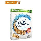 Multipack da 6 Confezioni di Nestle' Fitness Original Fiocchi di Frumento Integrale Ideali a Colazione 6 x 0,375 grammi