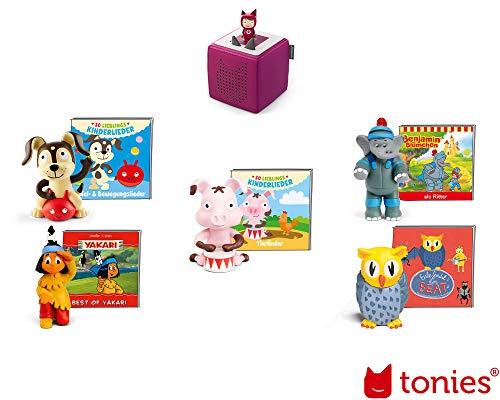 tonies Starterset Beere mit Kreativ-Tonie inkl. fünf Hörfiguren und Sammelheft