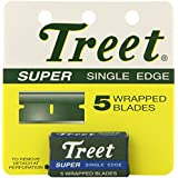 "Treet Super Single Edge 5 Wrapped Blades Pack Of 24 Total ""120 Blades"""