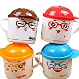Fashion ER 200ml Säuglingsbaby-Fütterungsflasche Milchschale mit Griff Kinder Cute Cartoon Animal Baby Kinder Tee