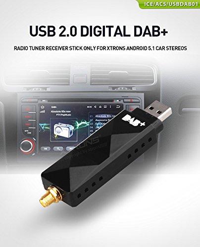 XTRONS DAB+ USB 2.0 Digital DAB+ Radio Tuner Receiver Stick NUR für die XTRONS Android Auto-Stereoanlagen