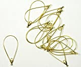 48 Gold-plated Brass, 40x22mm Smooth Tea...