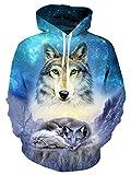 Idgretim Bluse süß für Teen Mädchen 3D Printed Drawstring Sweater Swearshirt Hoodie mit Taschen