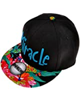 ZLYC Women's 2015 Fashion Neon Floral Tropical Print Embroidered GEEK Snapback Baseball Visor Adjustable
