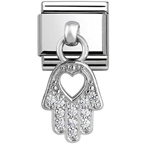 Nomination Damen-Charm 925 Silber Zirkonia weiß - 331800/20