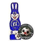 Karlsruher SC Schokoladen Osterhase, Schokohase 150 g KSC - Plus Aufkleber Wir lieben Fussball