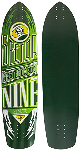Sector 9 Carbon Flight Skateboard Deck, Herren, gelb (Deck Herren Skateboard)