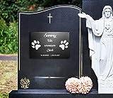 Gedenktafel Grabstein Gedenkstein mit Gravur ca. 30 x 20 cm für Tiere / Hund Katze Pferd mit Namensgravur – kein Druck – Lasergravur! schönes Andenken an die Liebsten / schöne Grabplatte für Garten o. Friedhof - 3