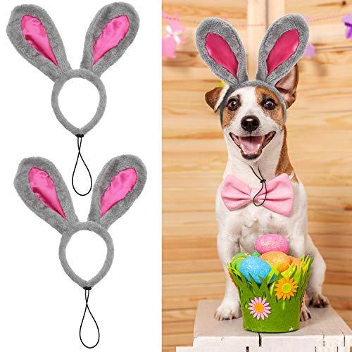 2 Stücke Ostern Bunny Stirnband Hündchen Hund Ostern Party Kostüm Hasen Ohren Kopfbedeckung für Große Hunde