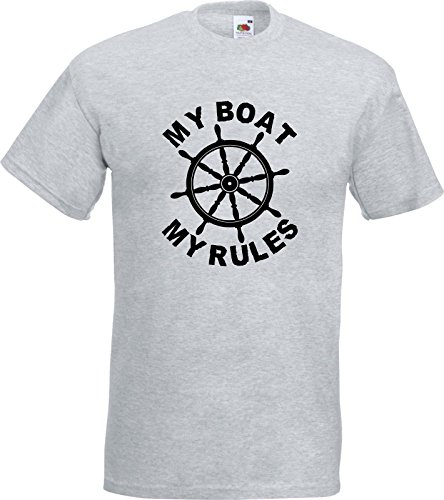 51eqWJ58QtL - MY BOAT - MY RULES - Funny Captain Skipper Boating Yacht Gift T Shirt T-Shirt sports best price Review uk