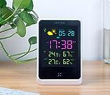 OLILEIO Intelligent Previsioni Meteo orologio elettronico Cartoon Creative Sveglia, camera da letto multifunzionale orologio sveglia