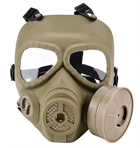 Funpa Airsoft Maske Vollgesichtsmaske M04 Dauerhafte Anti-Fog Outdoor Schutz Paintball Maske mit Fan -