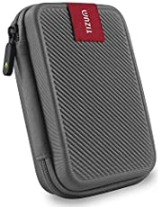 TIZUM External Hard Drive Case for 2.5-Inch Hard Drive - Double Padded (Grey)