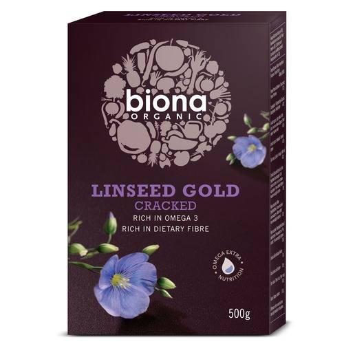 Biona Organische Cracked Leinsamen Gold 500g