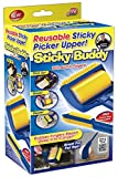#9: Absales Set Of 2 Pieces Sticky Buddy Reusable Lint Roller Sticky Picker Cleaner Lint Roller Pet Hair Remover Reusable & Washable Roller Brush For Pet Hair, Floor, Carpets, Clothes, Furniture, Sofa, Dust, Car
