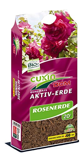 Cuxin Bio Rosenerde 20-100 L⎜ + 100 Tage Dünger⎜zum Pflanzen und Umtopfen ✅+Bodenanalyse-Gutschein (20 l) - 20 Bio-dünger 20 20