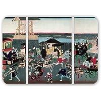 View of Nihonbashi in Tokyo, c.1870.. - Mousepad - Natürliche Gummimatten bester Qualität - Mouse Mat
