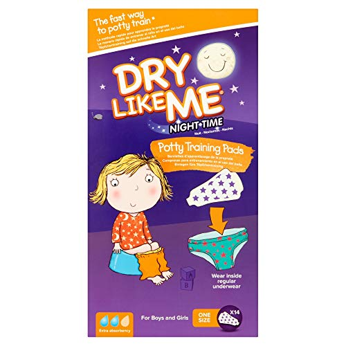 Dry Like Me Night Time Potty Training Pads - 14 X 4 (Total 56 Pads) -