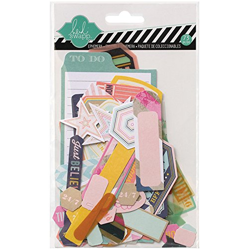 Heidi Swapp Mixed Media Ephemera fustellati 73/Pkg-cartoncino & forme di pergamena