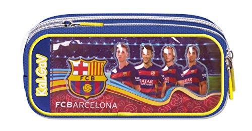 Tasche Fußball-messi (Offiziell lizensiertes ORIGINAL TEAMUNTERSCHRIFTEN & Spieler Bilder FC Barcelona Verbreiterung Federmäppchen / Schlampermäppchen mit 2 Taschen (!!) – lizensierter FC Barcelona Fanartikel)