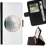 STPlus Bandera y balón irlandeses del equipo de fútbol de República de Irlanda Monedero Carcasa Funda para Sony Xperia M5 / Xperia M5 Dual