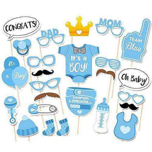 Kicode TOPmountain Junge Mädchen-Babyparty 25 Teile/Satz Party Foto Requisiten Party Geburtstagskits Set Dekoration (Party Favors Ideen Für Baby-dusche)