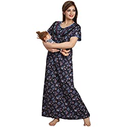 AV2 Women Cotton Feeding / Maternity / Nursing Nighty