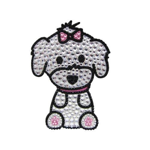 FouFou Dog 92970 RHINESTONE STICKERS Maltese (Girl) Geschenkidee Aufkleber