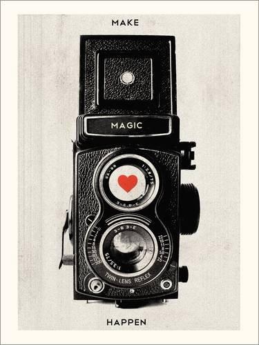 Póster 30 x 40 cm: Vintage retro camera photographic art print de Nory Glory Prints - impresión artística de alta calidad, nuevo póster artístico